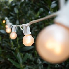 g30 string lights on white wire • christmas lights etc • $22