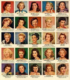 Actrices de Hollywood años 40-50.