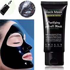 LuckyFine Blackhead Remover Cleaner Purifying Deep Cleansing Acne Black Mud Face Mask Peel-off (#1)