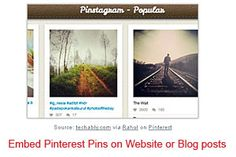 Easily embed Pinterest Pins on Website / Blog