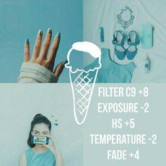 Blue filter for your blue feed /// #vsco @vsco_the_tutor
