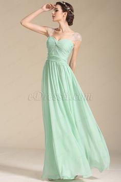 Cap Sleeves Sweetheart Formal Dress Bridesmaid Dress (07154504) #edressit #green_dress #bridesmaid_dress #wedding #fashion