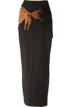 Clu Knot-front Stretch-jersey Maxi Skirt - LoLoBu