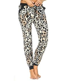 Look what I found on #zulily! Yellow Leopard Joggers #zulilyfinds