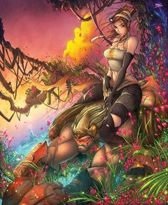 Some amazing art for one of the most criminally underrated games of this generation, Enslaved: Odyssey to the West, by king of the sketch, Rob Duenas. (Source: deviantart)