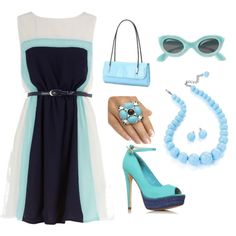 Blue Springs, created by thefabulousree on Polyvore