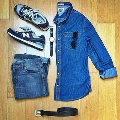 Outfit grid - The denim mix