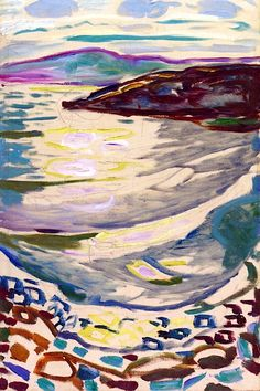 Landscape from Hvitsten Edvard Munch - 1918