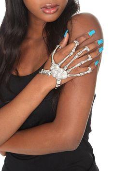 Skeleton Hand Ring Bracelet.  $15.00