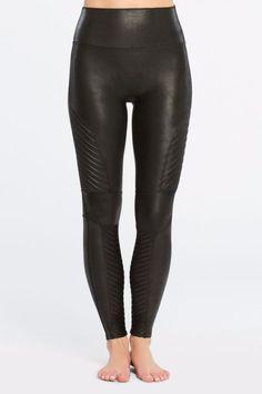 2ff2df070 Spanx Faux Leather Leggings - Main Image Motto Leggings, Spanx, Petite  Dresses, Leggings. Shoptiques