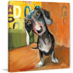 Marmont Hill Wasn't Me by Tori Campisi Painting Print on Canvas, Size: 24 inch x 24 inch, Multicolor