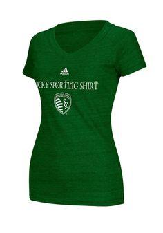 Sporting Kansas City T-Shirt- Women's Adidas Kelly Green St. Patrick's Day Lucky Shirt Triblend V-Neck Tee http://www.rallyhouse.com/shop/sporting-kansas-city-adidas-sporting-kansas-city-tshirt-womens-adidas-kelly-green-st-patricks-day-lucky-shirt-triblend-vneck-tee-14857767 $26.00