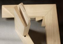 Double mortise and tenon joints on custom stretcher bars from DoubWorks.