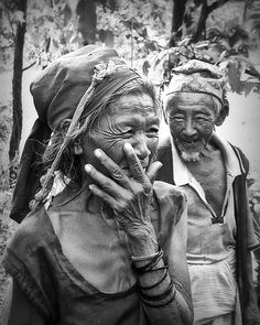 True Love, Old Couple, Nepal, Black and White, Fine Art Photography, Portrait by Studio Yuki / Danny Van den Groenendael