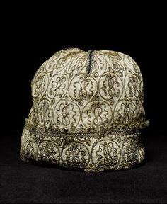 A late 16th/early 17th century blackwork cap with later restoration,  Bonhams 20 Nov 2007