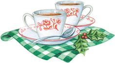 Christmas Tea for Two. Artwork by Gooseberry Patch.