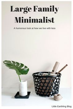 A humorous look at how all large families are minimalist.                                                                                                                                                     More