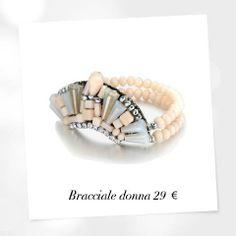 Metallo e cristalli: la ricetta dell'eleganza trendy! www.lucabarra.it #jewels #bracciale #collezione #donna #bijoux #trendy