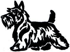 Scottish Terrier Dog Scottie Decal Vinyl Sticker Car Van Laptop ...