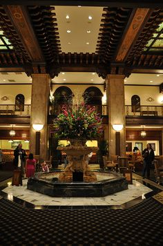 Peabody Hotel, Memphis, TN.   The location of many a dessert date, receptions, trips with visitor to see the famed duck palace and FedEx Christmas parties -- way back when.