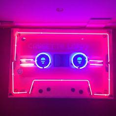 Neon casette - colour pop inspo | Fashion for life's adventurers, risk takers & chancers - urbangilt.com | @urbangilt