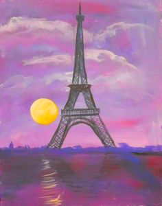 eiffel tower purple - Google Search