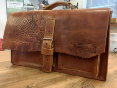 Custom made leather bag
