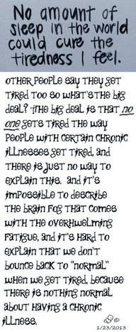 Fatigue & Multiple sclerosis (MS) OMG so true, No one understands but those of us who deal with this daily.