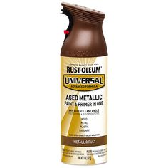 Try a industrial, modern, metallic look on your next project. Rust-Oleum® Universal® Aged Metallic Spray Paint is a paint and primer in one that provides superior coverage and durability on any surface and at any angle—with the unmatched comfort of our patented trigger technology.