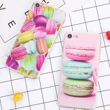 Cute Macaron Dessert Sweet Candy Printed Case For iPhone 7 6 Plus SE 5 Cover Ultra thin Soft TPU Mobile Phone Cases Fundas Iphone 5s, Iphone 7 Plus, Apple Iphone 5, Iphone Cases, Macaron Dessert, Colour Story, Diy For Men, Silicone Phone Case, 5s Cases