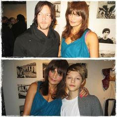 Norman with his ex and son.