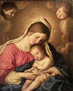 Sassoferrato, Madonna con bambino dormiente  (Genova)