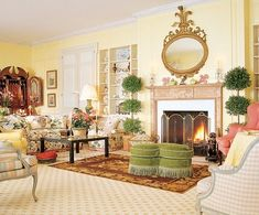 East Coast English : The New : Architectural Digest - Mario Buatta Beach Living Room, Living Room Decor, Living Area, Beautiful Interiors, Beautiful Homes, Mario Buatta, English Country Style, French Country, English Decor