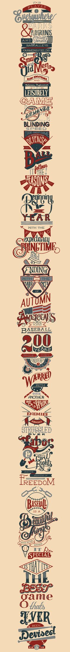 Baseball on Typography Served