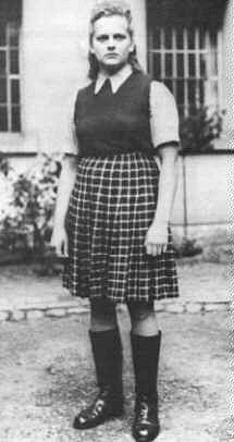Irma Grese-At age 19, she found herself a supervisor at Ravensbrück which was used as a training camp for many female SS guards, just at the time the Nazi anti-Jewish programmes were at their height in July 1942. In March 1943 she was transferred to Auschwitz. She later did a further spell at Ravensbrück and then went to Bergen-Belsen in March 1945. Irma rose to the rank of Oberaufseherin in the autumn of 1943, in day to day control of around 30,000 women prisoners, mainly Polish and Hung…