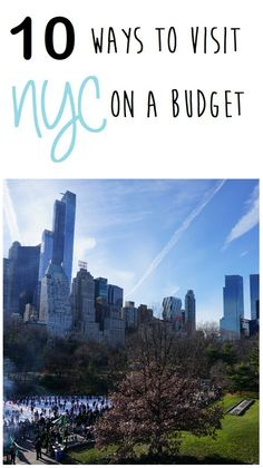 10 ways to visit New York City on a budget. The best list to save money in NYC.