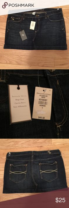 ✳️NWT Abercrombie & Fitch jean skirt NWT Abercrombie & Fitch jean skirt . Has some stretch in it for a comfortable fit. Abercrombie & Fitch Skirts
