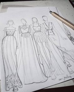 Fashion Design Portfolio, Fashion Design Drawings, Fashion Sketches, Fashion Illustration Poses, Fashion Design Template, Dress Design Sketches, Fashion Sketchbook, Fashion Painting, Designs To Draw