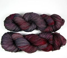 Hand Dyed Sock Yarn 4 Ply Fingering Weight Red Gray