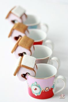 Mini Valentine Gingerbread House Mug Huggers | Sweetopia