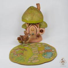 Whisper of Spring Mushroom House van willodel op Etsy