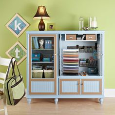 Simple Effects Blog: Organize Your Personal Life » Re-Purposing the TV Cabinet