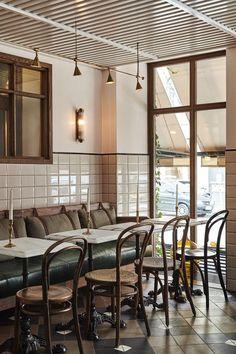 32 best caf s bars white tiles images coffee shop design rh pinterest com