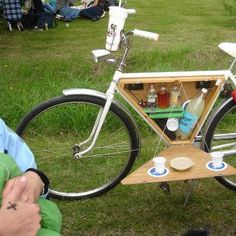 Picnic bicycle to keep you fit!