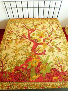 Tagesdecken - Tagesdecke Lebensbaum - beige - 240 x 210 cm - ein Designerstück von Duft-und-Klang bei DaWanda