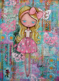 """Pink Polka-Dots"" 18x24"