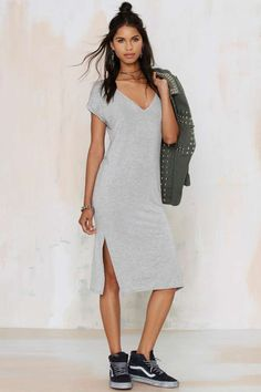 Lucia T-Shirt Dress - Day | Solid | Basic