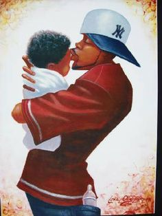 Father and son.    I love Lonnie's art work!
