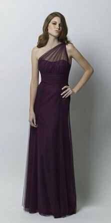 Plum Bridesmaid Dresses, One Shoulder Bridesmaid Dress, 2015 Bridesmaid Dresses, Long Bridesmaid Dress, Purple Bridesmaid Dresses, Hot Sale Prom Dresses, Formal Party DressesSilhouette: A LineMaterial..