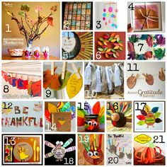 Thanksgiving gratitude activities and crafts